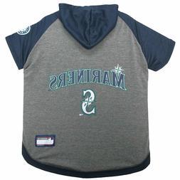 SEATTLE MARINERS Tee Hoodie MLB Dog Pet tee shirt