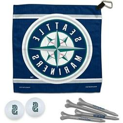 WinCraft Seattle Mariners Towel, Golf Balls & Tees Gift Set