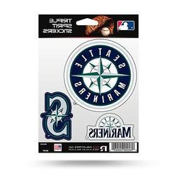 Seattle Mariners Triple Sticker Multi Decal Spirit Sheet Aut