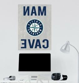 Seattle Mariners Wall Decal MLB Logo Sport Design Man Cave H