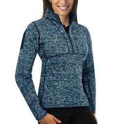 Seattle Mariners Antigua Women's Fortune Half-Zip Pullover S