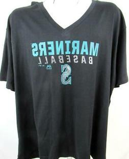 Seattle Mariners Womens Plus Size 1X 2X 3X or 4X Screened V-