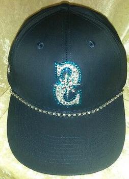Seattle Mariners  Womens Rhinestone Bling MLB Baseball Cap H