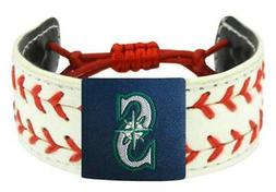 Seattle MLB Baseball Mariners Seamer Seam Leather Bracelet