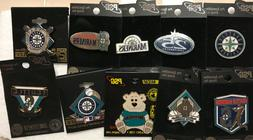 Set of 10 Seattle Mariners Logo Licensed Collectors Pins BLO