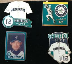 Set of 4 Seattle Mariners ICHIRO  Licensed Collectors Pins B