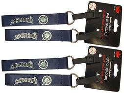 Set of 4 Seattle Mariners Officially Licensed Luggage Tag Ke