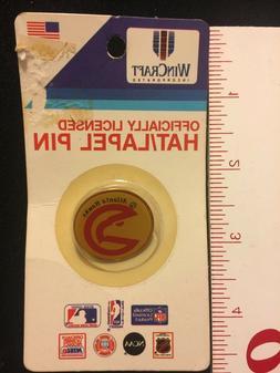 Vintage Atlanta Hawks WinCraft Button Lapel Pin NBA Collecti