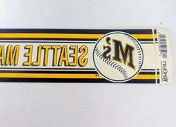 Vintage Seattle Mariners M'S  Baseball Bumper Sticker MLB